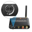 2 az 1-ben Bluetooth 5.0 audio vevő adapter és 192Khz DAC digitális-analóg átalakító
