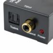 Digitális - analóg Toslink/Coaxial - RCA audió adapter