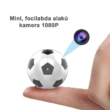 Focilabda formájú mini kamera, Full HD 1080P, webkamera