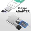 Type C OTG adapter, Type C MicroSD, TF kártyaolvasó, USB 3.0, Micro USB