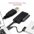 USB 2.0 - Mini Sata II 7 6 13Pin adapter átalakító kábel laptop / CD / J8W7 laptophoz