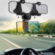 360 °-os autós visszapillantó tükörre szerelhető univerzális mobiltelefontartó