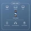 3 az 1-ben LCD kijelzős Bluetooth 5.0 audio adó-vevő + külső hangkártya