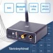 3 az 1-ben Bluetooth 5.0 audio vevő, DAC digitális analóg átalakító (3.5mm / RCA), USB Mp3 lejátszó