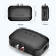 Bluetooth 5.0 vevő, NFC csatlakozás, USB és TF kártyás MP3 lejátszó, 3,5 mm-es Jack és RCA aljzattal, Multiconnect