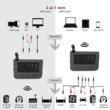 Nagy hatótávolságú Bluetooth 5.0 AptX audio adó-vevő, Multiconnect