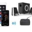 2 az 1-ben Bluetooth 5.0 audio vevő adapter NFC csatlakozási lehetőséggel