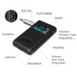 OLED kijelzős Bluetooth 5.0 audio vevő adapter, beépített mikrofonnal