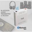 TX8 2 az 1-ben Bluetooth 5.0 audio adó/vevő, hangerő szabályzóval, zeneszám léptetővel