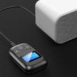 2 az 1-ben Bluetooth 5.0 LCD kijelzős audio adó-vevő adapter, beépített mikrofonnal