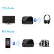 Bluetooth 5.0 aptx audió adó vevő adaptert, aux és az optikai-digitális toslink csatlakozás