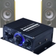 2x20W RMS teljesítményű Digitális erősítő, sztereó kimenet, RCA audio bemenet