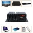 2x20W RMS (Max 2x200W) Digitális erősítő, Bluetooth, MP3 lejátszó, távirányítóval, USB, SD kártya bemenet