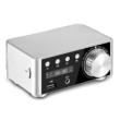 Digitális erősítő, 2x50W, Bluetooth 5.0, USB bemeneti port, ezüst színű