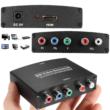 HDMI - Komponens átalakító adapter, 1080P, YPbPr 5RCA bemenetű monitorokhoz