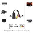 HDMI - 3RCA átalakító adapter, RCA bemenetű tévékhez, projektorokhoz, 1080P, HDMIAV2