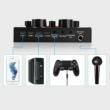 Külső hangkártya, hang centrum, 12 féle hanghatás, 6 féle effekt mód, 3 féle hangváltozás, Bluetooth 5.0