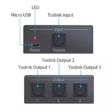 Optikai Toslink, SPDIF 3-es digitális jel elosztó, 1 be menet 3 kimenet
