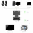 HDMI - VGA átalakító adapter, 3.5mm audió kimenettel, VGA monitorokhoz, projektorokhoz