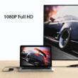 HDMI - VGA nagy felbontású 1080P video konverter, VGA bemenetű monitorokhoz, 3.5 mm audio kimenettel