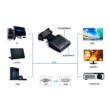 VGA-HDMI átalakító adapter, 3.5mm audió bemenettel, HDMI monitorokhoz, tévékhez, projektorokhoz