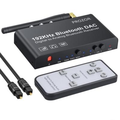 Prozor 192 kHz-es digitális-analóg átalakító Bluetooth 5.0 vevővel, IR   távirányítóval