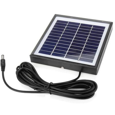 12V 5W Napelem 3m kábel DC, kültéri akkumulátoros kamerákhoz, lámpákhoz