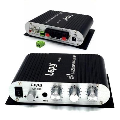 2.1 csatornás Digitális erősítő 2x15W+20W, MP3, Szuper Bass kimenet