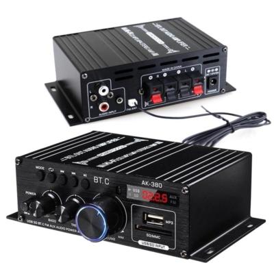 2x40W RMS Digitális erősítő, Bluetooth, MP3 lejátszó, távirányítóval
