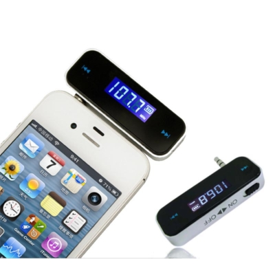 Telefonhoz csatlakoztatható FM Transmitter, 3.5 mm jack dugóval, 87.5-108MHz