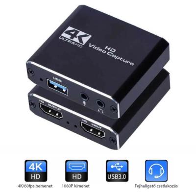Full HD HDMI - USB3.0 külső videó kártya, video megosztó, audio ki/be